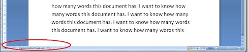 how do i count the words in my word document  but