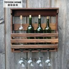 wine wall shelf industrial pipe wine racks