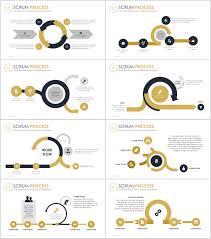 Process Flow Chart Template Ppt Gold Scrum Process Flowchart Powerpoint Template Just Free