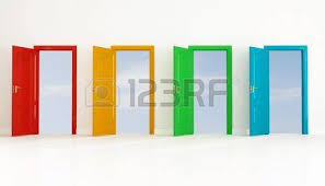 many open doors. Wonderful Open Conceptual For Many Use Four Colored Open Door Against Clear Sky Stock  Photo  5345762 Intended Many Open Doors O