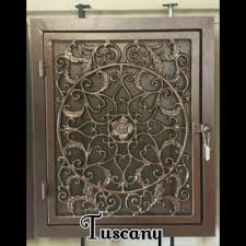 Decorative Return Air Vent Cover Tuscany Handmade Wrought Iron Return Air Filter Frame Vent