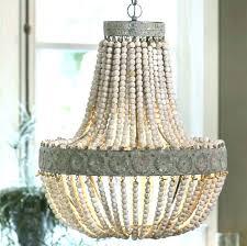 chandeliers elena wood bead chandelier pottery barn wooden beaded featured photo of indoor outdoor for