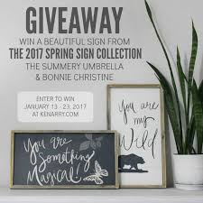 Small Picture Limited Edition 2017 Spring Sign Collection Giveaway