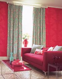 Living Room:Red Couch Living Room With Wooden Floor And Red Curtain Idea  Traditional Living