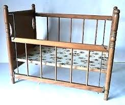 wood doll cribs vintage antique wooden baby toy crib cradle bed for dolls plans includes free
