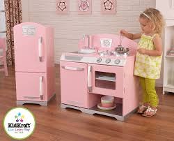 Pink Kitchen Amazoncom Kidkraft Retro Kitchen And Refrigerator In Pink Toys