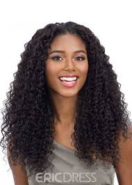 ericdress 100 virgin human hair women s curly wigs long length lace front wigs 22inches 14760824