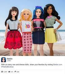 バービー人形に体型や人種が異なるタイプが登場することに 子供に
