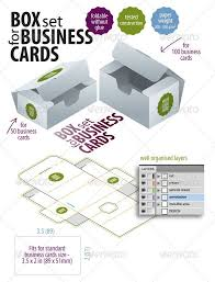 Box Set For Business Cards Packaging Print Templates Best