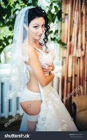 Nude Bride Striptease Beautiful Girl White Stock Photo 251617423.