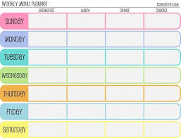 one week menu planner best 25 weekly menu template ideas on pinterest menu planner