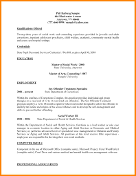 Sample Social Work Resume 60 social work resume example ecil 60 36