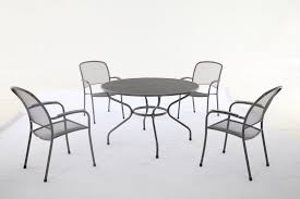 metal garden table and chairs round set outdoor awesome home