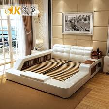 Full Size Bed Frame With Storage Modern Leather Queen Size Storage ...