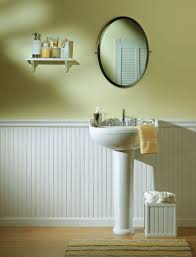 chair rail in a bathroom
