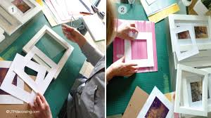 diy spring decorating idea steps 1 and 2 choosing frames and paper on diy wall art using picture frames with diy spring decorating idea pastel wall art utr d co blog