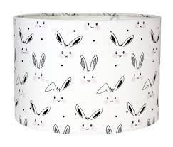 nursery lamp shade baby room lampshade rabbits bunny