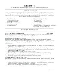 Accounting Manager Resume Examples New Resume Samples For Accounting Accounting Resume Samples Good