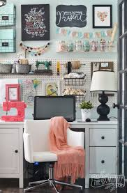 home office craft room ideas. A Colorful Boho Craft Room Home Office With Tons Of Great DIY Decor And Organization Ideas. Ideas