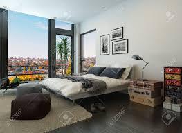 Moderne Schlafzimmer Interieur Mit Vintage Möbel Lizenzfreie Fotos