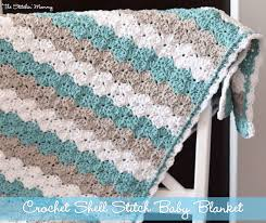 Crochet Baby Blanket Shell Pattern