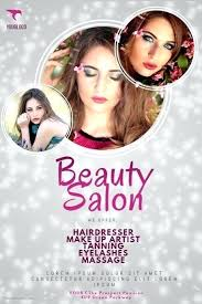 beauty salon flyer template templates psd free 2