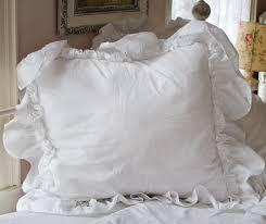 ruffled pillow shams. Wonderful Ruffled Ruffle Feminine Bedding Shabby Style Pillow Shams Romantic Cases With Ruffled Pillow Shams W