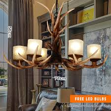 classic 6 cast antler chandelier unique