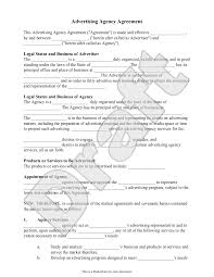 Business Agency Agreement Template Advertising Agency Agreement Contract Sample Template Ad Agency 4