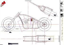 custom bobber motorcycle frames. Computer-aided Motorcycle Frame Drawing Custom Bobber Frames