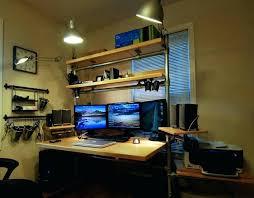 custom built desk custom built desk computer built desk with three monitor computer setup for beautiful