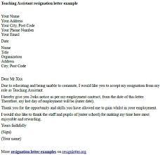 Examples Of Resign Letters Sample Teacher Resignation Lette Resigning Letter Format For Teacher