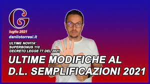 SUPERBONUS 110 ultime novità emendamenti al Decreto Semplificazioni 2021 -  YouTube