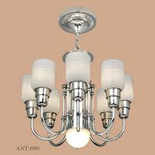 streamline or midcentury modern chandelier nickel 8 arm ceiling light ant 650 for