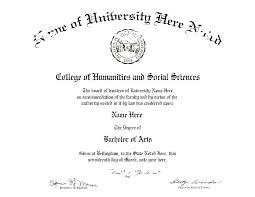 Bachelor Degree Template Free University Graduation Certificate