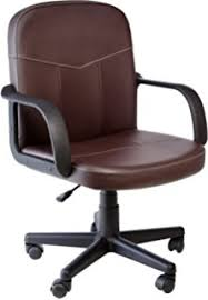 Durable Pvc Home Office Chair Comfort Products 60238108 Bonded Leather MidBack Office Chair Brown Durable Pvc Home