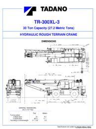 Tadano Tr 300 Series Specifications Cranemarket