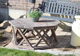 build an outdoor octagon coffee table