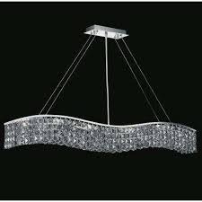 glamorous 7 light chrome chandelier