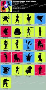 Cartoons Shadow Quiz 7 Letters