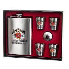 """Подарочный <b>набор с флягой</b> """"Jim Beam"""" 250/50 мл (8138-009 ..."""