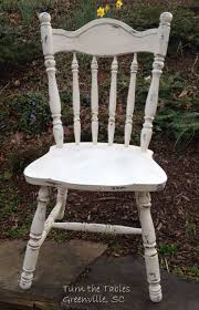 Cute Wooden Chair Painted In American Paint Cos Navajo White