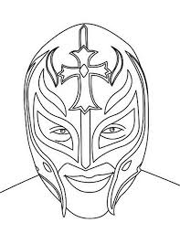 Small Picture Rey Mysterio Mask Coloring Pages Rey Mysterio 619 Coloring Pages