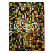 city collection multicolor 5 ft x 7 ft checd boxes area rug