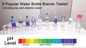 Bottled Water Acidity Chart 9 Popular Brands Of Bottled Water Tested For Ph Youtube