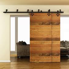sliding barn doors interior. 5FT To 8FT Rhombus Sliding Barn Wood Door Hardware Steel American Country  Style Black Doors Interior