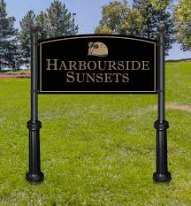 Decorative Sign Posts Extra Large Commercial Sign And Decorative Posts 4