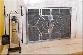 image of modern fireplace doors design