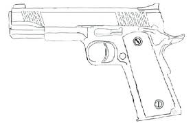 Pixel Coloring Pages Cool Gun Coloring Pages A Coloring Guns Page