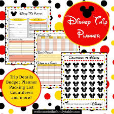 Printable Disney Vacation Planner Welcome To The Family Table